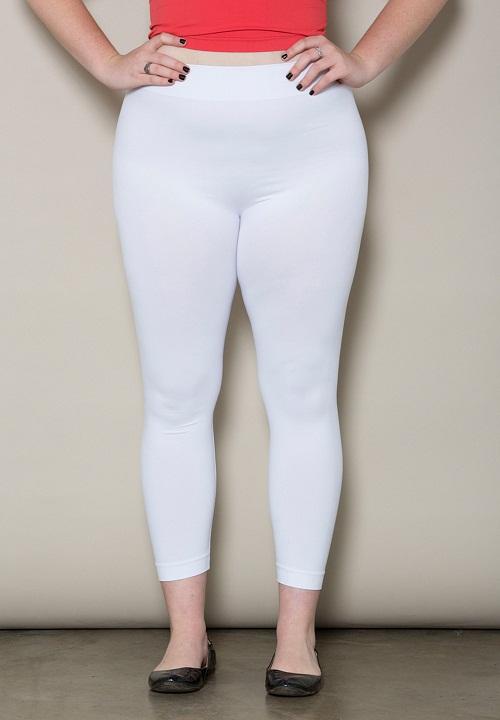 Plus Size White Leggings