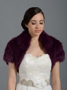 Purple Fur Shrug