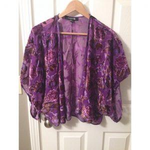 Purple Kimono Jacket