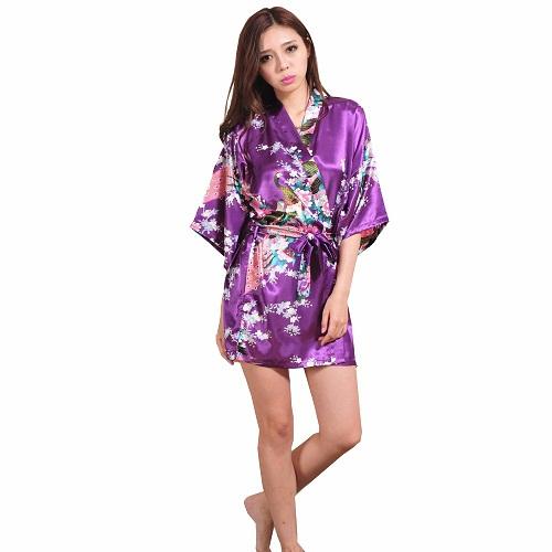 purple kimono