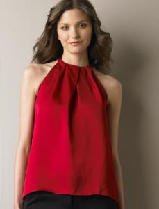 Red Halter Top Shirt