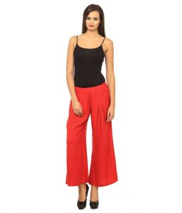 Red Palazzo Pants Images