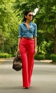 Red Palazzo Pants Outfits