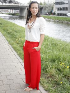 Red Palazzo Pants Pictures