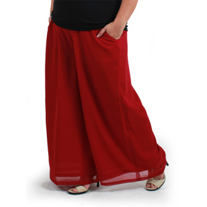 Red Palazzo Pants Plus Size