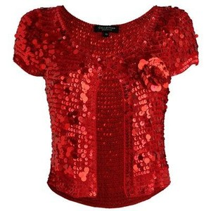 Red Sequin Shrug