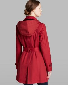 Red Trench Coat with Hood Pictures