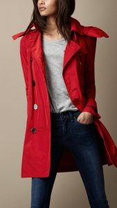 Red Trench Coats with Hood