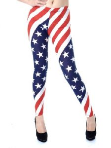 Red White and Blue Leggings