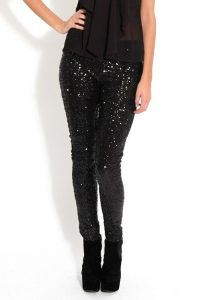 Sequin Black Leggings