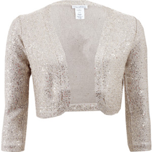 Sequin Shrug Plus Size