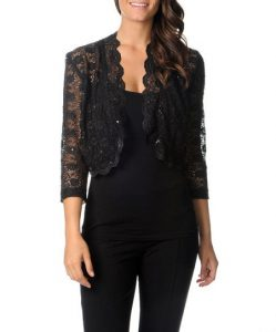 Shrug Black Lace
