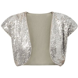 Silver Sequin Shrug