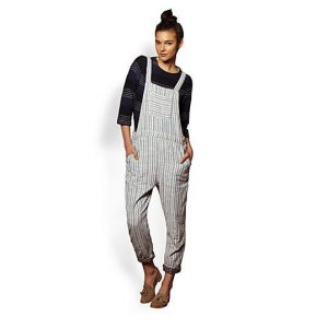 Striped Overalls Womens
