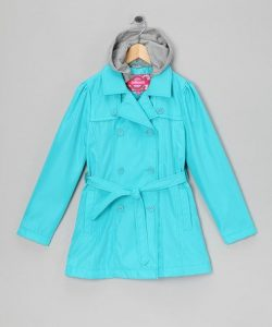 Turquoise Trench Coat Images