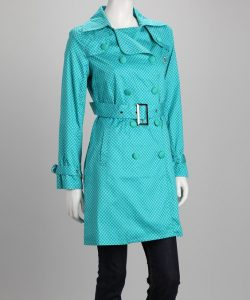 Turquoise Trench Coat Pictures