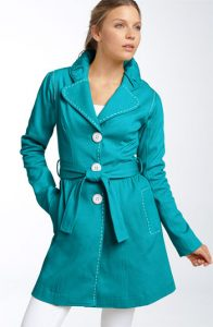 Turquoise Trench Coats