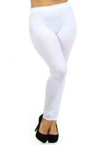 White Plus Size Leggings