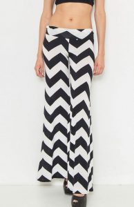 White and Black Palazzo Pants