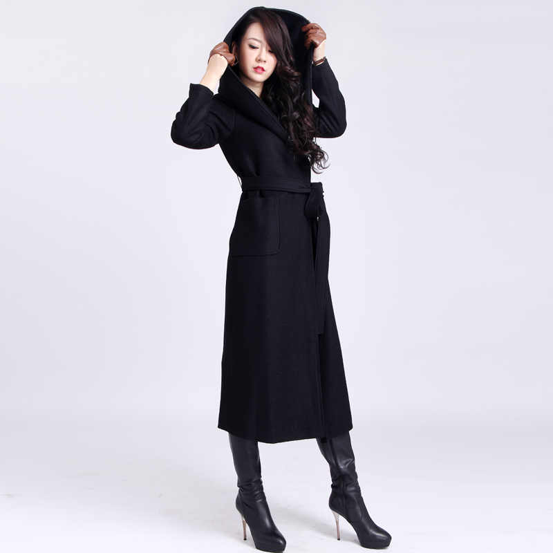 black trench coat with hood - photo #31