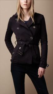 Womens Black Trench Coats
