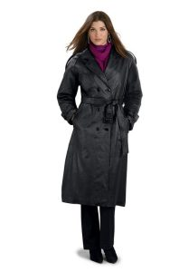 Womens Leather Trench Coat