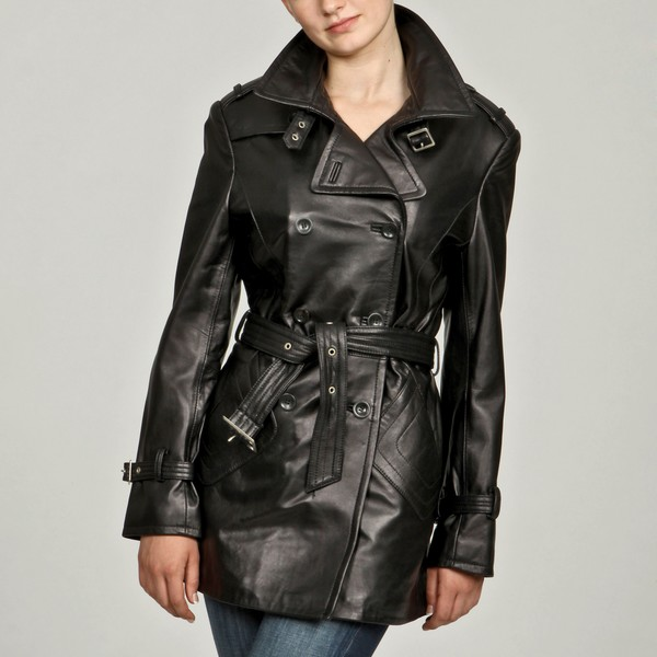 Leather trench coat women's outerwear – Novelties of modern ...