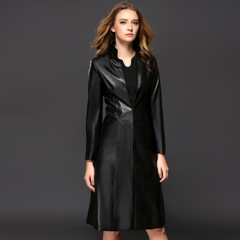 Womens leather trench coats
