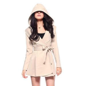 Womens Trench Coat with Hood