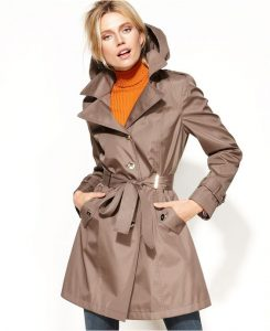 Womens Waterproof Trench Coat with Hood