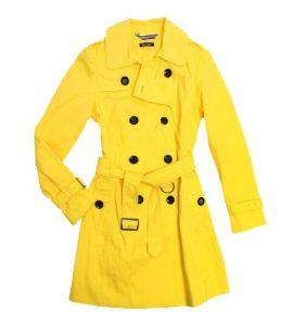 Womens Yellow Trench Coat