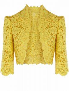 Yellow Lace Shrug