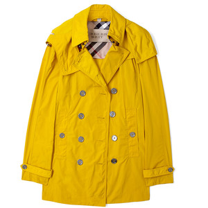 Yellow Rain Trench Coat