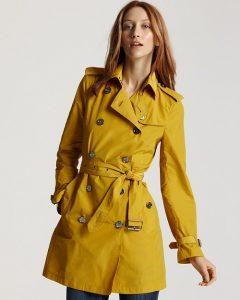 Yellow Trench Coat