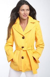 Yellow Trench Coat Pictures