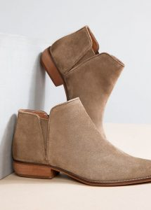 Flat Beige Ankle Boots