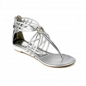 Gladiator Sandals Silver