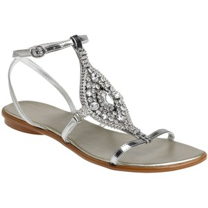 Gladiator Silver Sandals