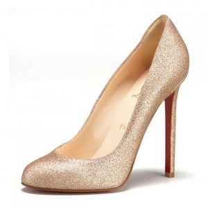 Gold Glitter Pumps Shoes