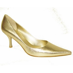 Gold Metallic Pumps Shoes