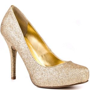 Gold Pump Shoes