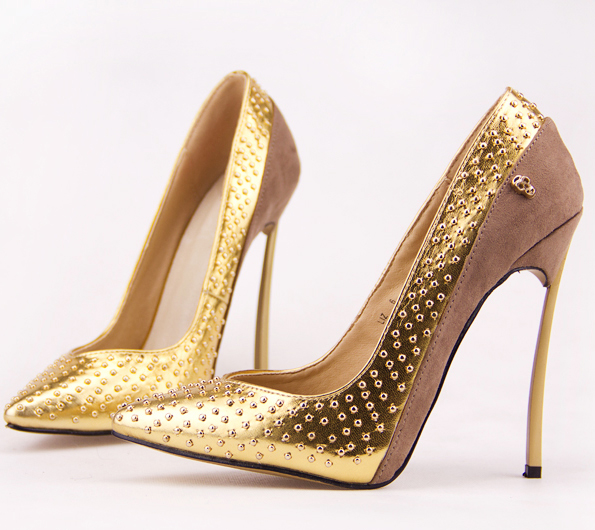 Gold Pumps Shoes