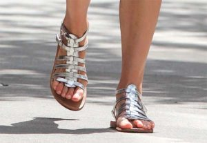 Silver Gladiator Sandals Outfit