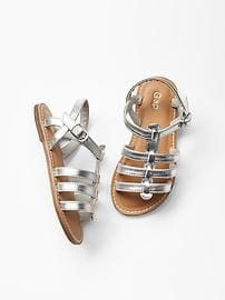 Silver-Gladiator Sandals for Toddlers
