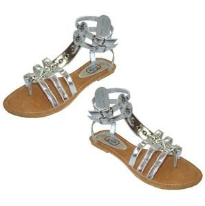 Silver-Gladiator Sandals for Wedding