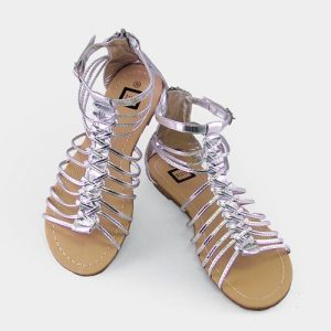 Silver Gladiator Sandals for Women