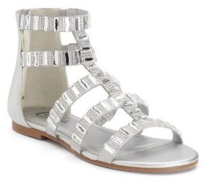 Womens Silver Gladiator Sandals
