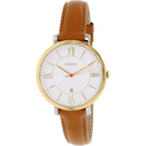 Brown Leather Strap Watch Womens