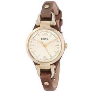 Brown Leather Watch Women