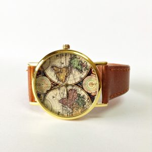 Brown Leather Womens Watches